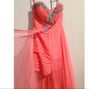 Mac Duggal high low dress size 2